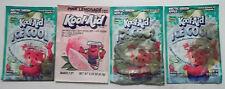 4 Vintage Kool-Aid Packets Ice Cool Arctic Green Apple Pink Lemonade Points LOT8