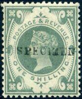 1887 SG211 1s Dull Green Jubilee *SPECIMEN* Unmounted Mint c£100.00