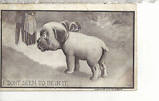 """A Man and Woman and a Dog """"I Don't Seem To Be In It""""   Mailed 1910 Postcard 3127"""