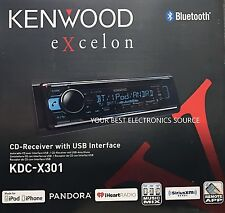 NEW KENWOOD eXcelon KDC-X301 In Dash CD Receiver with Built in Bluetooth KDCX301