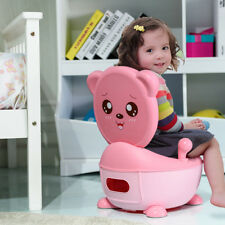 Pink Baby Potty Chair Toddler Children Kids Training Toilet Seat Easy Clean UK