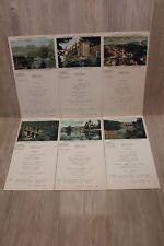 Lot de 6 cartes postales Menu - Compagnie Maritime des Chargeurs Réunis - TBE
