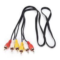 3 Cinch-Stecker auf 3 Cinch-Stecker Composite Audio Video AV-Kabel Stecker 1M