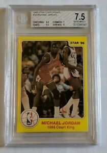 1986 STAR COURT KINGS #18 MICHAEL JORDAN ROOKIE BGS 7.5 LN