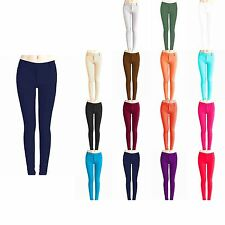 Womens Skinny Colorful Jeggings Stretchy Sexy Pants Soft Leggings S-2XL