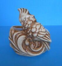 Vintage Shawnee Pottery Parrot White & Brown Planter Pot Vase #523