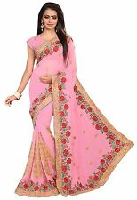 Designer Indian Bollywood Women Georgette Sari Party Wear Clothing Saree