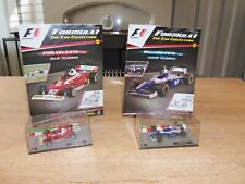 2 x Panini F1 Car Collection Gilles and Jacques Villeneuve Ferrari Williams 1:43