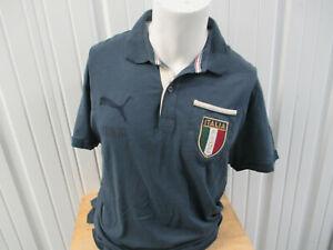 VINTAGE PUMA ITALY NATIONAL MEN'S TEAM2 XL RETRO SEWN BLUE JERSEY 1950'S KIT