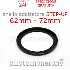 Anello STEP-UP adattatore da 62mm a 72mm filtro - STEP UP adapter ring 62 72 mm