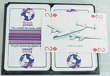 VERY Vintage British Airlines Prop Airplane Playing Cards. Double Deck w Case