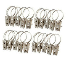10pcs/set Stainless Steel Curtain Rod Clips Window Shower Curtain Rings Clamps