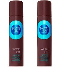 2 x SALON TAN PROFESSIONAL 125g SPRAY TAN WASH OFF 100% Brand New