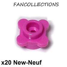 LEGO - 20x Plate Round 1x1 Fleur Flower rose foncé/dark pink 33291 NEUF