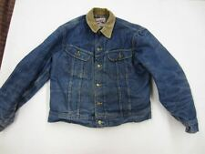 Vintage Lee STORM RIDER BLUE DENIM JACKET Gray Blanket Lining jean trucker