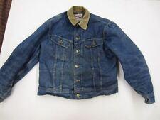 Vintage Lee STORM RIDER BLUE DENIM JACKET Gray Blanket Lining jean trucker