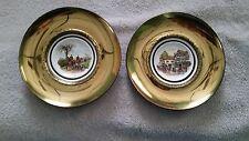 2- Vintage Regency Bone China Plates The Huntsman,Old Coach House, England
