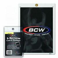 New 25 BCW 1-Screw Standard Recessed Card Holders 20PT Screwdown W/ Brass Screw