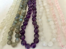 Gemstone Necklace 925 Sterling Silver Hand Crafted Round Beads Natural Stone