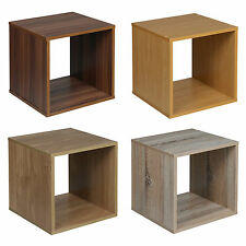 Modern Wooden Bookcase Shelving Display Storage Wood Shelf Shelves Cube Display