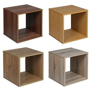 Wooden Bedside Bookcase Shelving Display Storage Wood Shelf Shelves Cube Cabinet
