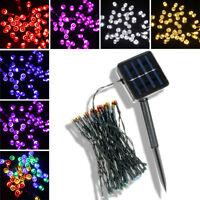 Esterno Energia Solare 50 LED Fairy Stringa Luce Giardino Sentiero Natale
