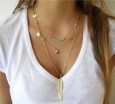 Moda Colgante Cadena Gargantilla Oro Gruesa declaración babero Collar Joyería encanto