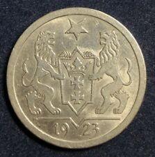2 Gulden 1923 Danzig 10 g .750 Silber KM#146 Erhaltung !
