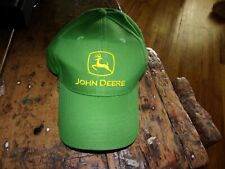 Authentic Vintage John Deere Tractors Farm Machinery Puffy Green Truckers Hat Jd