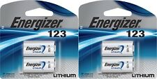 2x2 PACK ENERGIZER CR123A CR123 CR 123 123A LITHIUM 4 BATTERIES EXP. 12-2028