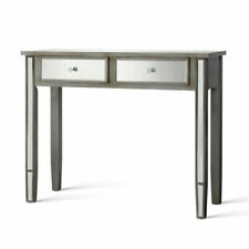 Artiss Hallway Console Table Mirrored Bedroom Dressing Table - Smoky Grey