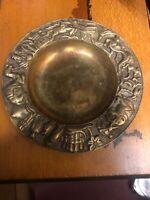 Vintage Used Three Turkish Brass Ashtray