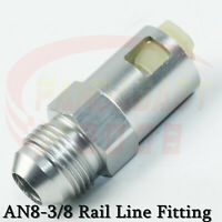 """Straight AN8 -8 8AN to 3/8"""" Female Push On Lock Hose Fitting Rail Line Adapter"""