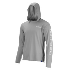 Huk Performance Fishing Icon Hoodie Pullover - Mens Grey Medium H1200139-020