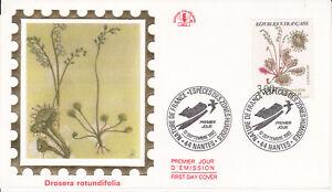 Enveloppe maximum 1er jour CEF 1992 - Nature Fleurs Drosera Rotundifolia