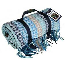 COB WEAVE STRIPE POLO PICNIC RUG - WOOL / WATERPROOF by Tweedmill Textiles