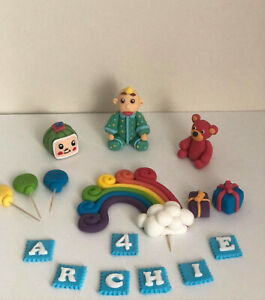 Unofficial Cocomelon Nursery Rhyme Personalised Birthday Cake Topper