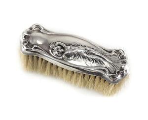Sterling Silver Art Nouveau Vanity Clothes Brush, c1900 repousse Webster Co?