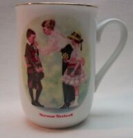 "VINTAGE 1986 Norman Rockwell Museum THE FIRST DAY OF SCHOOL 4"" MUG CUP"