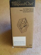 Pampered Chef Small Bamboo Knife Block Bnib