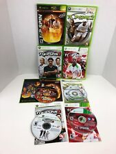 Top Spin 1-4 Microsoft Xbox Xbox 360 Lot Complete Tennis Sports Agassi