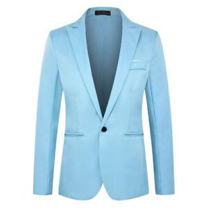 Herren Formal Sakko Anzug Blazer Klassische Business Hochzeit Jacke Mantel Tops