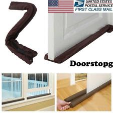 Portable Twin Door Draft Dodger Guard Stopper Protector Under Door Excluder US