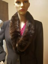 Vintage Nwts Ranch Mink scarf, wrap, boa dark brown 2 clamps #12