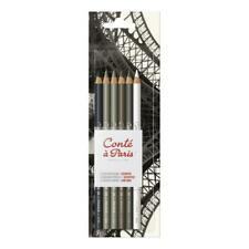 Conte a Paris Artists' Drawing Pencils Set of 6 Neutral Tones & Soft Textures