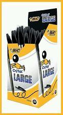 20 Bic 1.6mm Cristal Large BLACK Bold Pens - FAST 1st CLASS POSTAGE