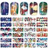 Nail Art Stickers Decals Transfers Snowmen Reindeer Christmas Xmas (A1141-1152)