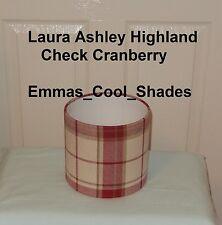 Lampshade Handmade Laura Ashley Highland Check Cranberry Red 20cm Drum Tartan