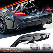 AMG CLA45 Style Bumper Diffuser & Exhaust Tips for Mercedes-Benz CLA C117 X117