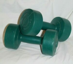 Bollinger - Pair of 5 lb Pound Dumbbells Weights Plastic Vinyl